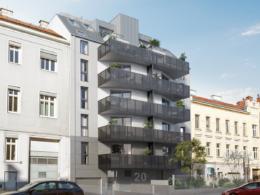 WINEGG Neubauprojekt Hohenbergstraße 20 Straßenansicht 1120 Wien