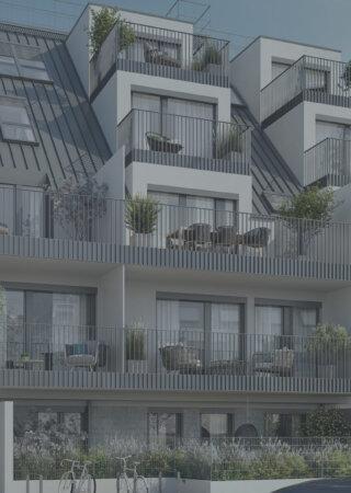 Strassenansicht WINEGG Wohnbauprojekt