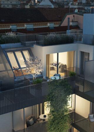 WINEGG-Eigentumswohnungen-Schopenhauerstrasse-1180-Wien-Ansicht-Dachwohnungen-Hof
